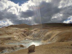 Thermal waters in Leirhnjúkur, Iceland