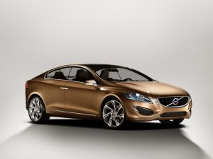 Volvo S60 with golden colored