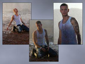 Several photos of singer Matt Pokora