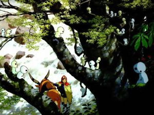 Princess Mononoke and the strange creatures of the forest