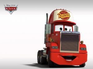 Mack, the truck that transports to McQueen
