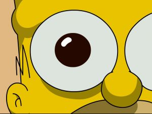 The eye of Homer Simpson