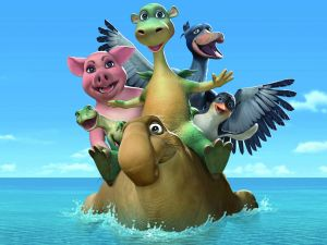"""Impy and his friends in """"Impy's Island"""""""