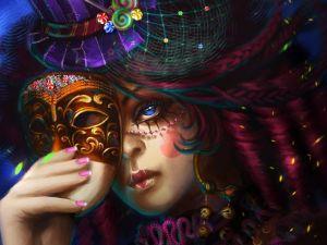 Woman in carnival