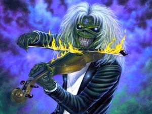 Eddie and his violin of fire (Iron Maiden)