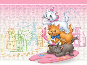 Three kittens painters