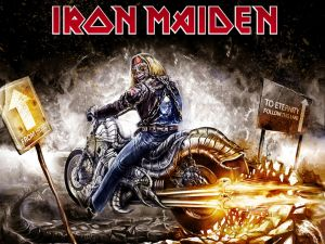From here to eternity follow this lane (Iron Maiden)