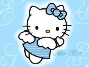 Hello Kitty of blue angel
