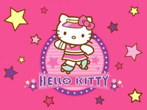 Hello Kitty on skates