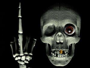 A very funny skull