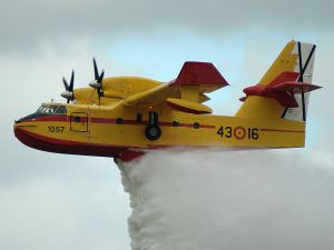 Amphibious aircraft Canadair CL-215, used in fire fighting