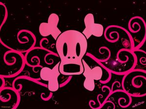"Pink ""emo"" skull"