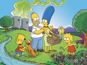 The Simpsons on a picnic