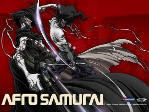 Afro Samurai, a samurai with afro hairstyle seeking revenge