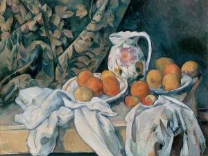 Still life with apples and oranges (1895-1900), by Paul Cézanne