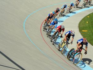 Track Cycling Competition in Calgary, Canada