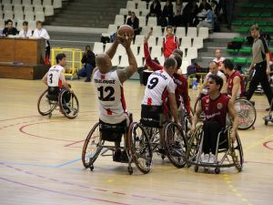 Wheelchair Basketball. Euroleague match between Toulouse and Rome.