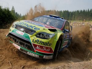 Jari-Matti Latvala driving his Ford Focus