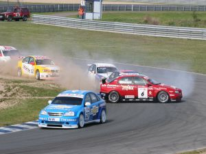 Accident in the World Touring Car Championship (Germany, 2005)