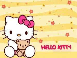 Hello Kitty with her teddy