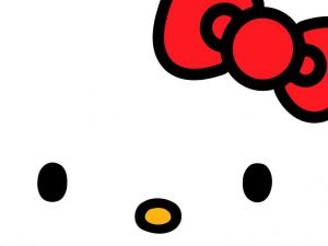 A closeup of Hello Kitty