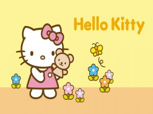 Hello Kitty in the field
