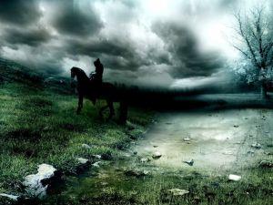 Rider in the night