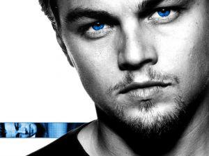 Leonardo Di Caprio with blue eyes