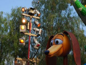 The Slinky dog (character from Toy Story)