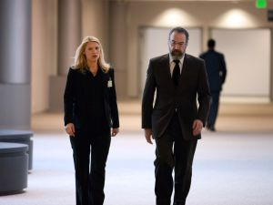Carrie and Saul in Langley, the CIA headquarter