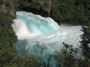 Huka Falls on the Waikato River, near Taupo, New Zealand