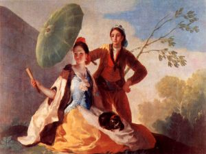"""The Parasol"", oil on linen of the painter Francisco de Goya (1777)"