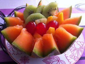 Orange melon with other fruits