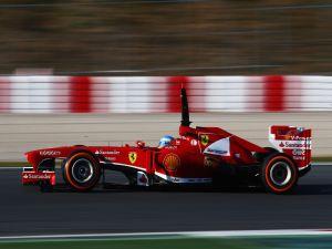 Fernando Alonso in his Ferrari