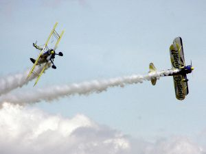 Aerobatic team Utterly Butterly (United Kingdom) with their Boeing Stearman