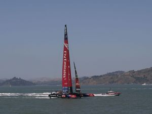 Sailing competition on San Francisco Bay