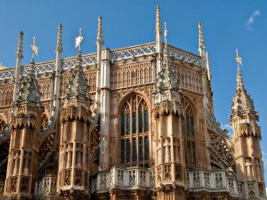 Westminster Abbey (London), detail of eastern apse exterior