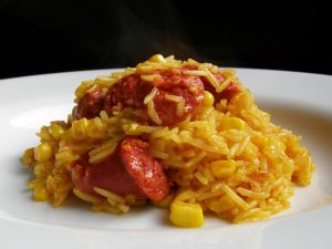 Rice with chorizo