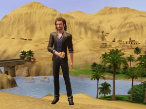 """A character from """"The Sims 3"""""""