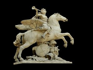 The King's fame riding Pegasus, by Antoine Coysevox (1701-1702)