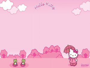 Hello Kitty strolling