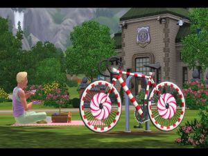 """Colored bicycle in """"The Sims 3"""""""