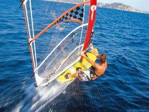 Speed on a windsurfing board