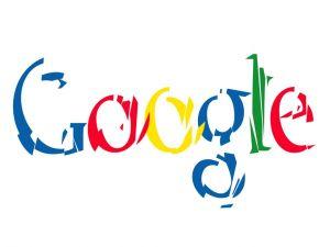 Google Logo fragmented