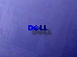 Dell logo over an electronic circuit