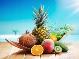 Pineapple, Coconut, Kiwi, Orange, Avocado and Mango