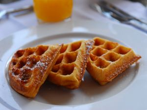Waffles for breakfast