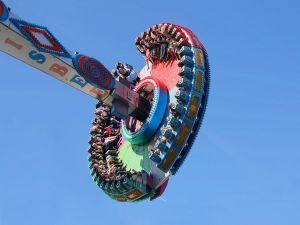 Fairground Ride at the Oktoberfest, Munich, Germany