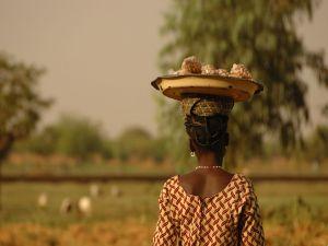 Selling peanuts in Ouagadougou, Burkina Faso