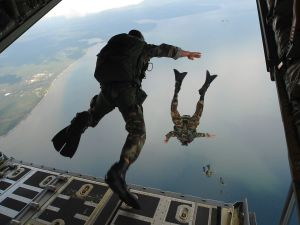 Paratroopers of the Air Force of the United States